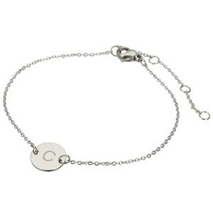 DAINTY SILVER INTIAL LETTER BRACELET | C | *NWT*